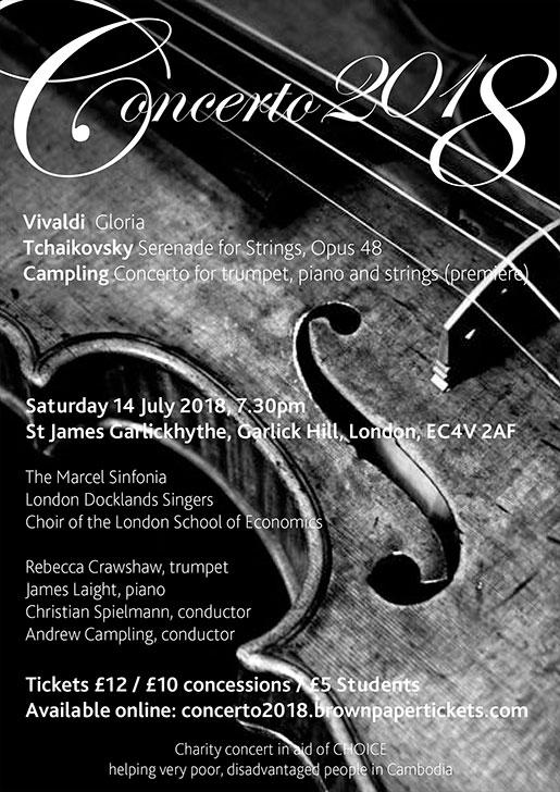 London Docklands Singers : Concerto 2018 : July 2018