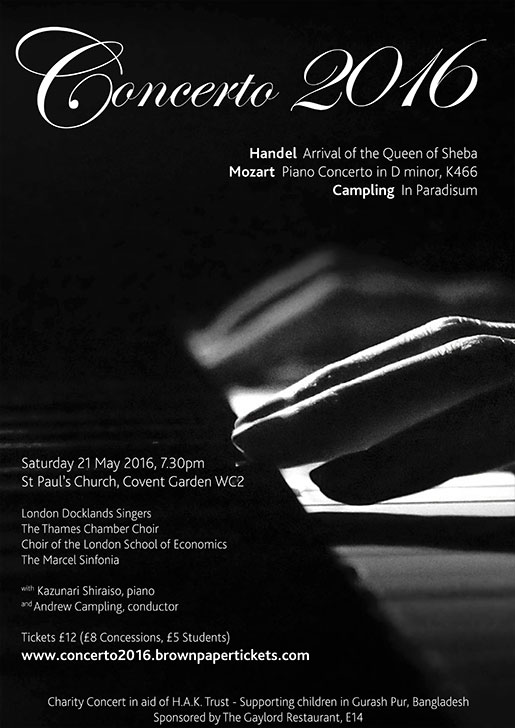 London Docklands Singers : Concerto 2016 : May 2016
