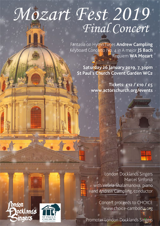 London Docklands Singers : Mozart Fest : January 2019