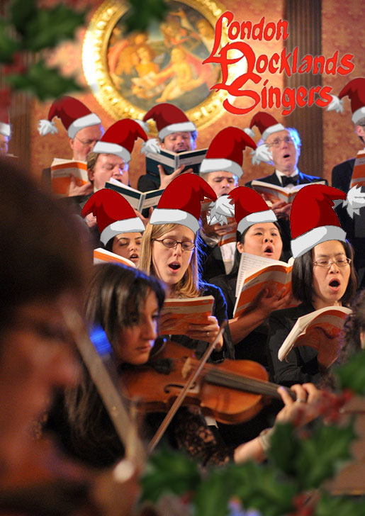 London Docklands Singers : Carols at Canary Wharf : December 2017